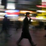 busy man blur